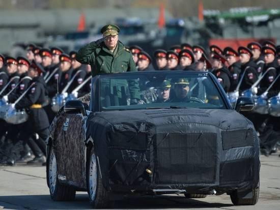 Минобороны показало фото нового лимузина Aurus для Парада Победы