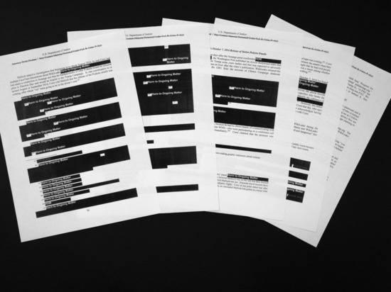 Какие места замазали черным в докладе спецпрокурора Мюллера