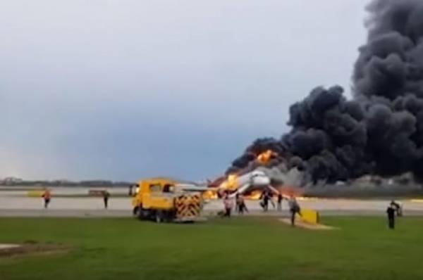 ТАСС: один человек погиб в результате возгорания самолета в Шереметьево