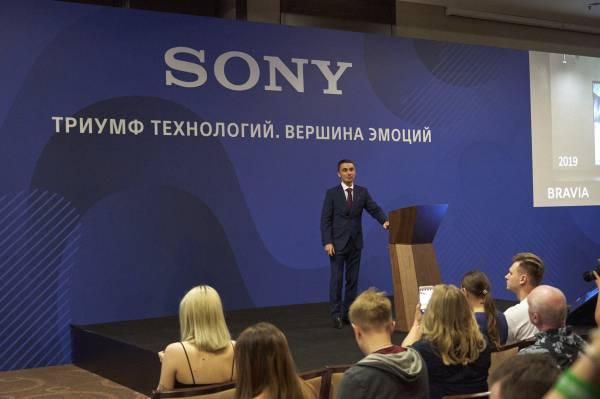 Sony впервые представила в России 8K HDR телевизоры