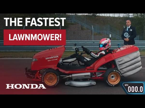 Газонокосилка Honda Mean Mower V2 установила новый мировой рекорд скорости