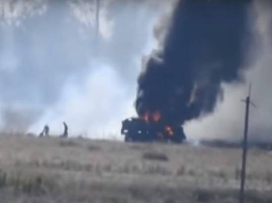 В Донбассе на мине подорвался грузовик с боевиками «Айдара»