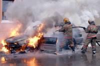 В Бурятии полицейские спасли пассажиров загоревшегося автобуса