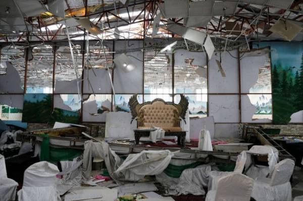В Кабуле число погибших после взрыва на свадьбе выросло до 63