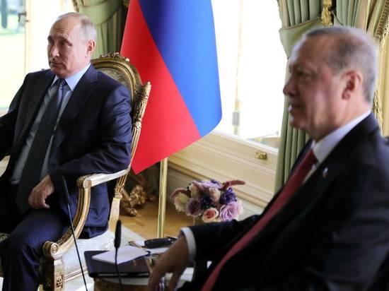 Путин позвал Эрдогана в Москву