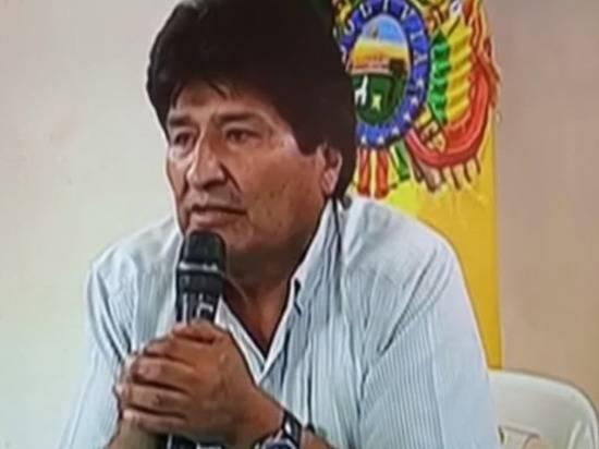 Моралес рассказал, когда вернется в Боливию