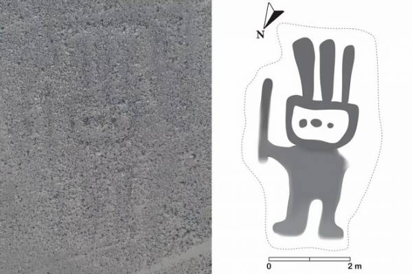 Искусственный интеллект помог обнаружить невидимый геоглиф на плато Наска