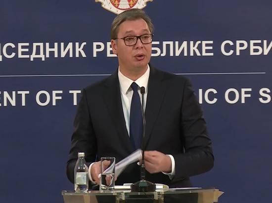 Президент Сербии прокомментировал обвинения в «убийстве русских детей»