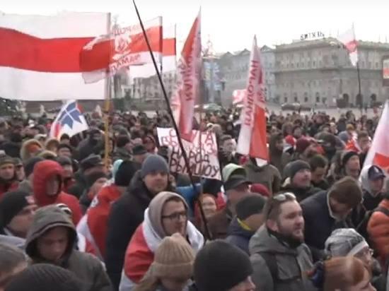 Белорусские националисты устроили шествие против интеграции с Россией