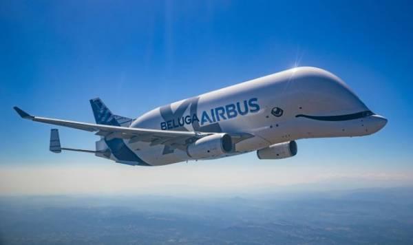 Гигантский авиалайнер Airbus BelugaXL приступил к перевозке грузов