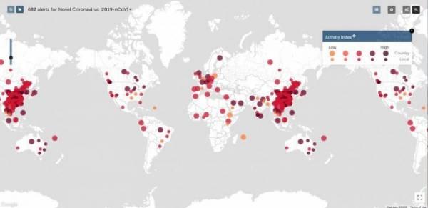 Пять онлайн-инструментов для отслеживания эпидемии коронавируса