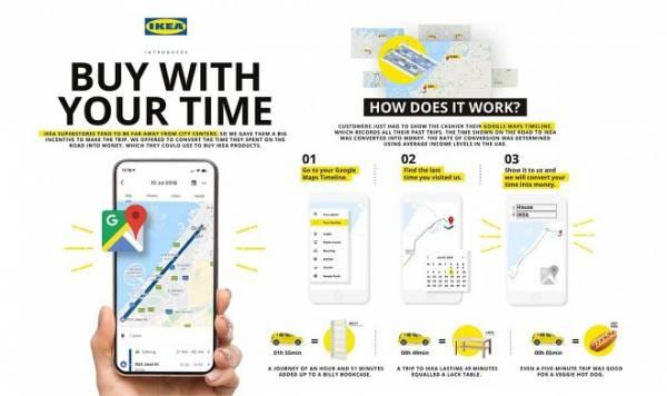 IKEA оплатит поездку в магазин, если она будет подтверждена через Google Maps