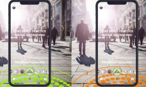 Новые линзы Snapchat используют дополненную реальность для социального дистанцирования
