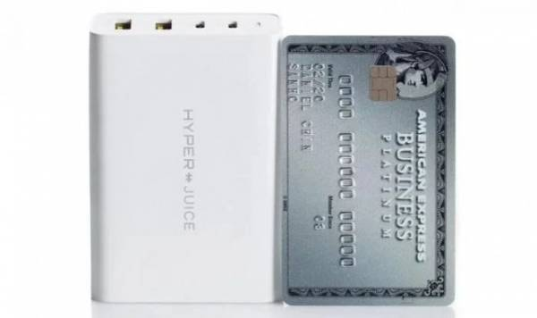 Первый в мире 100-ваттный GaN адаптер HyperJuice зарядит четыре гаджета разом