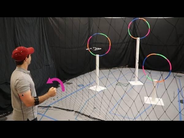 Технология Conduct-A-Bot позволяет управлять дроном движениями руки