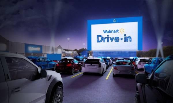 Walmart намерена превратить автостоянки возле супермаркетов в кинотеатры