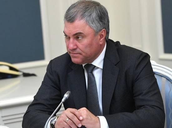 Володин назвал политическим решение ЕСПЧ по делу депутата Рашкина