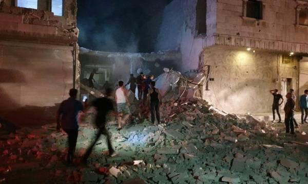 По городу Эль-Баб на севере Сирии нанесен авиаудар