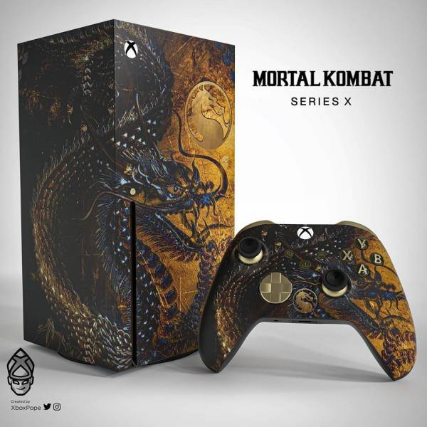 PS5 и Xbox Series X в стиле Mortal Kombat - фанат придумал дизайн лимитированных консолей и впечатлил Эда Буна