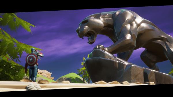 """""""Ваканда навсегда"""": Игроки отдают дань уважения Чедвику Боузману у статуи черной пантеры в Fortnite"""