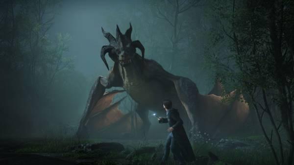 Грозный дракон и чудовищный тролль на первых скриншотах Hogwarts Legacy во вселенной Гарри Поттера