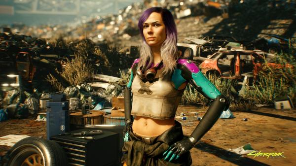 Авторы Cyberpunk 2077 добавили в игру Алану Пирс - новый скриншот