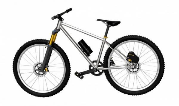 Устройство Elevate крепится поверх заднего тормоза и превращает велосипед в электробайк