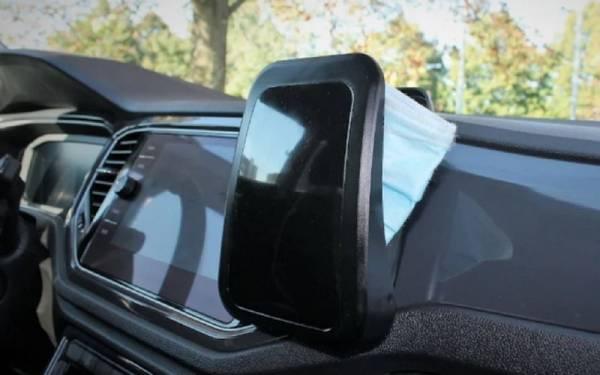 Изобретен автомобильный чехол для маски — он уничтожает вирусы