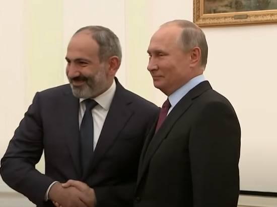 Пашинян провел переговоры с Путиным из-за ситуации в Нагорном Карабахе