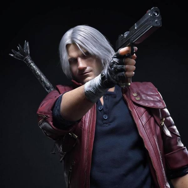 Большой и бородатый: Capcom показала премиальную статуэтку Данте из Devil May Cry 5 в масштабе 1/2