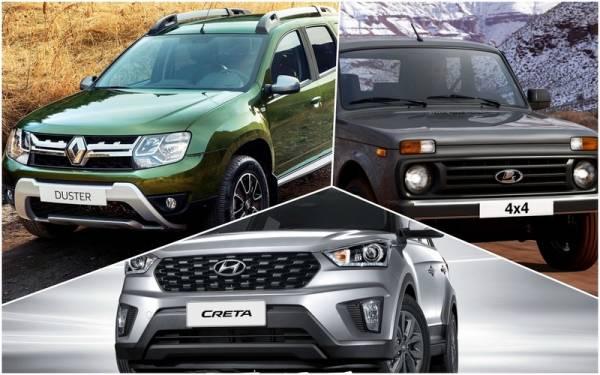 Lada 4x4, Hyundai Creta и Renault Duster: что дешевле в эксплуатации?