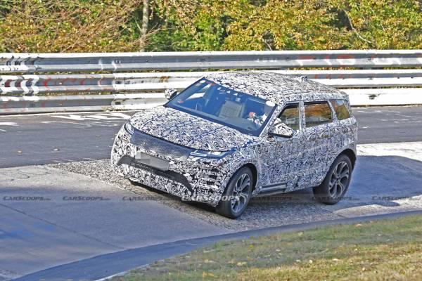 Удлиненный Range Rover Evoque: скоростные тесты