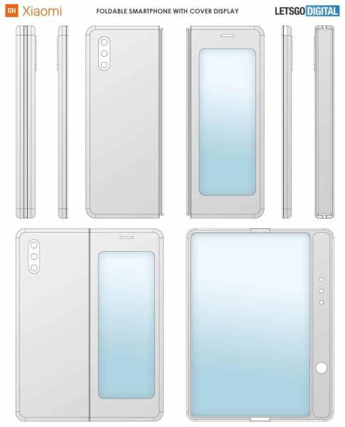 Обнаружен патент складного смартфона Xiaomi на манер Samsung Galaxy Fold