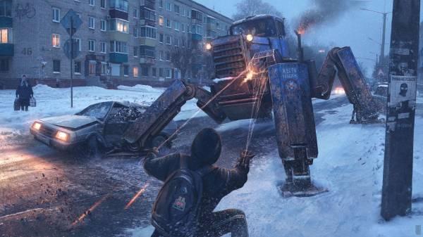Человек-паук в сибирской провинции на потрясающих артах российского художника