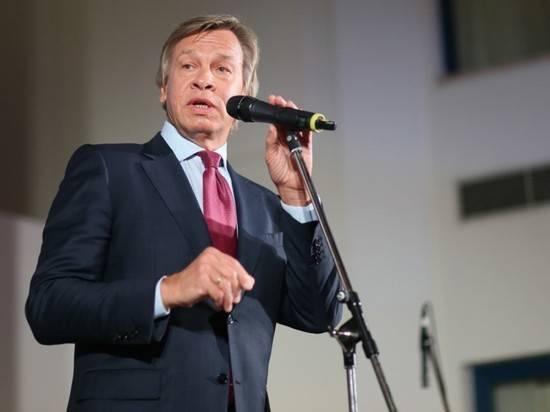 """Пушков высмеял планы Германии говорить с Россией с """"позиции силы"""""""