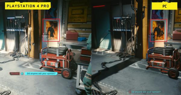В геймплейном видео Cyberpunk 2077 для PS4 Pro заметили отсутствие наготы на постерах, но этому есть объяснение
