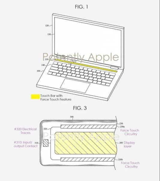 Новый патент Apple указывает на возвращение к Force Touch в будущих MacBook Pro