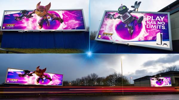 Следующий эксклюзив PS5: Рэтчет и Кланк украсили улицы Глазго на красочных рекламных щитах Ratchet & Clank: Rift Apart