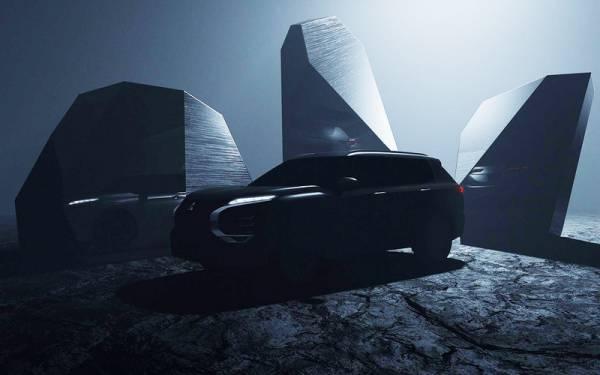 Mitsubishi подразнила тизерами нового Outlander