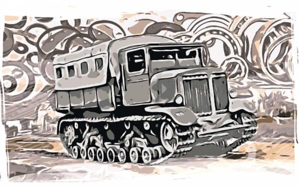 Довоенный тягач: он таскал танки