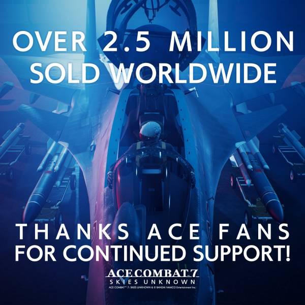 Ace Combat 7: Skies Unknown стала самой популярной игрой серии, побив результат Ace Combat 4