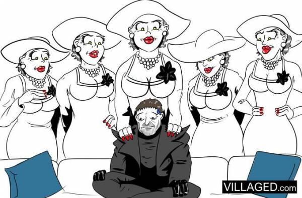 """""""Хочу, чтобы она села на мое лицо"""": Фанаты без ума от леди из Resident Evil Village - появился первый косплей и еще больше артов"""