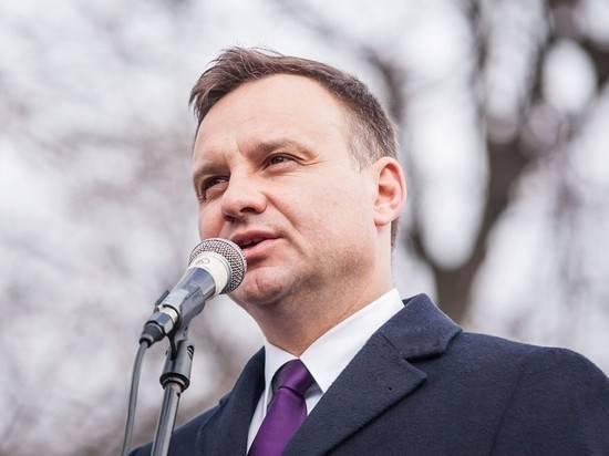 """Президент Польши предложил усилить санкции против России и """"Газпрома"""""""