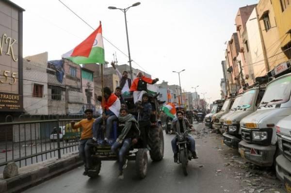 В Индии во время протестов фермеров погиб один человек