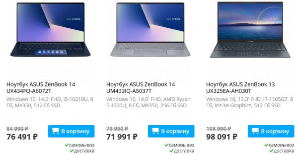 """ASUS снизила цены на ноутбуки в рамках акции """"Киберпонедельник"""" - скидки достигают 30 тысяч рублей"""