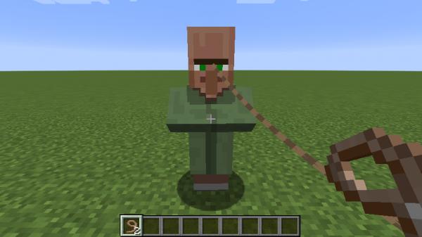 Как сделать поводок в Minecraft