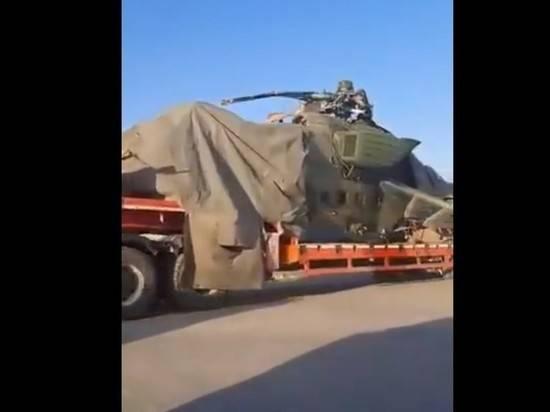 Опубликовано видео с эвакуацией Ми-35, совершившего экстренную посадку в Сирии