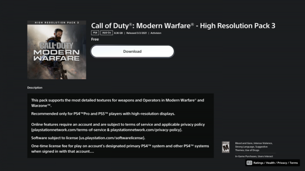 Call of Duty: Modern Warfare получила обновление с улучшенными текстурами для Xbox Series X и PlayStation 5