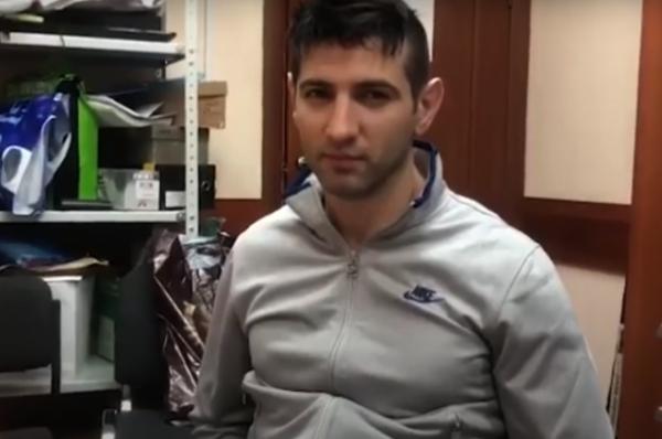 Опубликовано видео задержания подозреваемого в убийстве Гейдарова