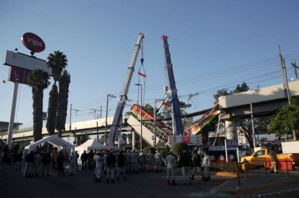 В Мехико госпитализированы 79 пострадавших при обрушении метромоста